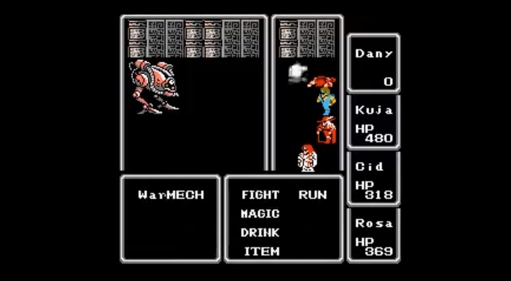 Final Fantasy original turn based battle system