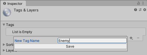 Defining a new tag inside Unity