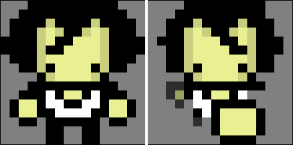 Character punching sprites