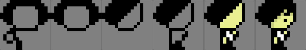 Character sprites seen from the side