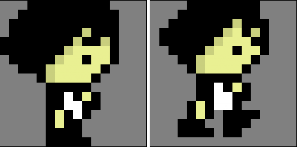 Character walking to the side animation sprites